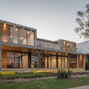 Colima home/Di Frenna Arquitectos architecture, building, elevation, facade, home, house, mixed use, property, real estate, residential area, gray, brown