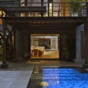 Architect: Studio PKA http://www.purankumar.com/Photographer: Amit Pasricha estate, home, house, interior design, lighting, property, real estate, black
