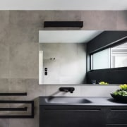 Towel rails need to be in chrome – architecture, countertop, floor, interior design, kitchen, room, wall, gray, black