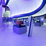 Zaha Hadid – Mathematics: The Winton Gallery – architecture, blue, interior design, lighting, product, product design, purple, blue