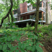 It's an extensive renovation cottage, home, house, leaf, outdoor structure, plant, real estate, tree, green