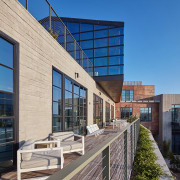 Perched on high, overlooking the Platform complex and apartment, architecture, building, commercial building, condominium, corporate headquarters, daylighting, daytime, facade, headquarters, home, house, metropolitan area, mixed use, real estate, residential area, sky, window, gray