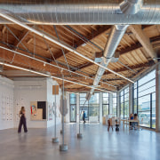 The Tappan Collective gallery is in the Showroom architecture, ceiling, daylighting, structure, tourist attraction, gray
