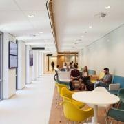 Zaans Medical Centre – Mecanoo ceiling, institution, interior design, lobby, real estate, white