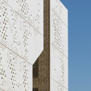 Palace of Justice building | Mecanoo + Ayesa architecture, building, daytime, design, facade, line, pattern, sky, skyscraper, structure, tower, tower block, white