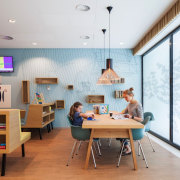 Zaans Medical Centre – Mecanoo ceiling, furniture, interior design, office, room, table, white