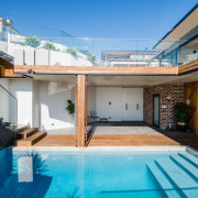 Could you see yourself taking a dip in apartment, architecture, estate, home, house, property, real estate, roof, swimming pool, villa, teal