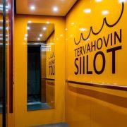 The Tervahovi Silos / PAVE Architects interior design, yellow, orange, brown