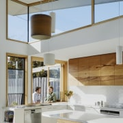 A small open bar area is the perfect architecture, ceiling, interior design, gray