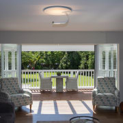 Indoor/outdoor connection ceiling, daylighting, estate, home, house, interior design, living room, property, real estate, room, wall, window, gray, black