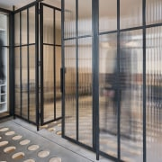 Andy Martin Architecture – Renovation in London door, facade, gate, glass, iron, window, gray