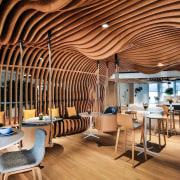 Smart Dubai ceiling, interior design, restaurant, brown, orange