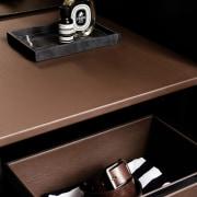 Storage in the walk-in wardrobe furniture, product design, table, black, brown