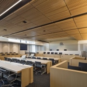 Newcastle Courthouse – Cox Architecture auditorium, ceiling, classroom, conference hall, daylighting, interior design, office, brown, gray
