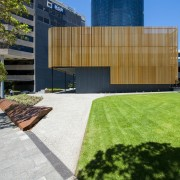 Channel 9 Headquarters – Cox Howlett & Bailey architecture, building, courtyard, estate, facade, grass, house, lawn, property, real estate, residential area