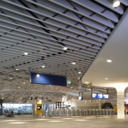 Municipal Offices and Train Station, Delft airport terminal, architecture, building, ceiling, convention center, daylighting, infrastructure, metropolitan area, structure, gray