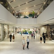 Westfield Newmarket – a new world-class retail and boutique, ceiling, outlet store, retail, shopping mall, gray