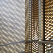 The 925 Building architecture, building, daylighting, facade, line, mesh, metal, shade, skyscraper, structure, wall, window, window blind, window covering, window treatment, wood, gray, brown