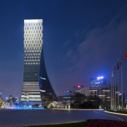 Icon Yuanduan Tower architecture, building, city, cityscape, corporate headquarters, daytime, downtown, fixed link, headquarters, landmark, metropolis, metropolitan area, mixed use, night, reflection, sky, skyline, skyscraper, tourist attraction, tower, tower block, urban area, blue