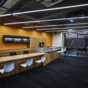 H Academy – Shi-Chieh Lu/CJ Studio architecture, ceiling, floor, flooring, interior design, lobby, black