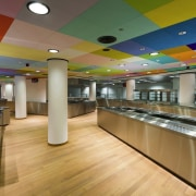 This new headquarters for the European Union Council ceiling, interior design, brown