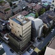 The 925 Building aerial photography, architecture, bird's eye view, building, city, downtown, metropolis, metropolitan area, neighbourhood, residential area, suburb, urban area, black, gray