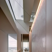 A Horizon Habitats project architecture, ceiling, daylighting, glass, house, interior design, gray