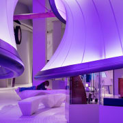 Zaha Hadid – Mathematics: The Winton Gallery – architecture, blue, ceiling, daylighting, interior design, light, lighting, product design, purple, violet, purple