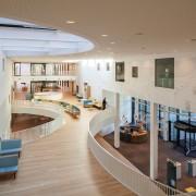 Zaans Medical Centre – Mecanoo daylighting, floor, flooring, interior design, lobby, real estate, gray