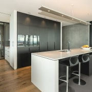 Registered Master Builders – House of the Year countertop, interior design, kitchen, office, real estate, white, gray