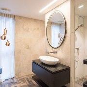 Armstrong Interiors bathroom, ceiling, floor, flooring, interior design, plumbing fixture, product design, room, sink, tile, gray