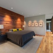 The downlights accentuate the wood wall architecture, ceiling, estate, floor, flooring, hardwood, house, interior design, living room, property, real estate, room, wall, wood, wood flooring, gray, brown