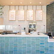 Sweetfin Poke San Diego – Mayes Office bathroom, countertop, flooring, home, interior design, kitchen, room, tile, wall, white