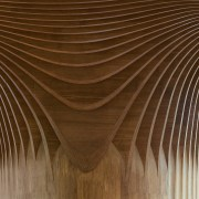 Another view of the woodwork ceiling, line, symmetry, wood, brown