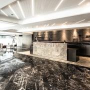 Hotel Ease ceiling, floor, flooring, interior design, lobby, white, black
