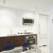 The small kitchen makes the most of the interior design, kitchen, property, real estate, room, white