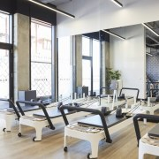 Upwell Health Collective – Siren Design Group Pty gym, interior design, structure, white