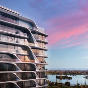 Mayfair Residential Tower – Zaha Hadid Architects apartment, architecture, building, condominium, corporate headquarters, facade, mixed use, property, real estate, reflection, residential area, sky