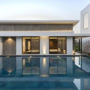 Architect: ADNDPhotography by Sebastian Zachariah architecture, estate, facade, home, house, property, real estate, swimming pool, villa, window, gray