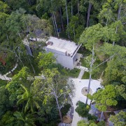 This home sits on a 8000m2 woodland site biome, forest, hill station, jungle, nature reserve, rainforest, tree, vegetation, water resources, green