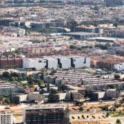 Palace of Justice building | Mecanoo + Ayesa aerial photography, bird's eye view, city, cityscape, daytime, downtown, metropolis, metropolitan area, neighbourhood, panorama, residential area, sky, skyline, suburb, urban area, gray