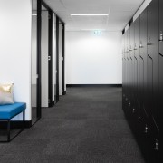 Austbrokers Countrywide – New office designed by A1 architecture, floor, flooring, interior design, product design, black, white