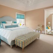 Some of the rooms function like small apartments bed frame, bed sheet, bedding, bedroom, ceiling, estate, floor, home, interior design, mattress, property, real estate, room, suite, wall, window, gray