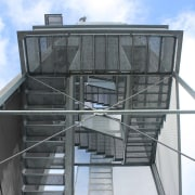 569 firestation architecture, building, daylighting, facade, glass, roof, structure, white