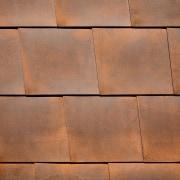 Corten steel is an excellent way to add brick, brown, floor, flooring, hardwood, line, material, texture, wall, wood, wood stain, brown, orange