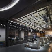 H Academy – Shi-Chieh Lu/CJ Studio architecture, ceiling, interior design, lobby, black