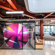 Colourful and moveable, Urban Pods for The B:HIVE architecture, interior design, white