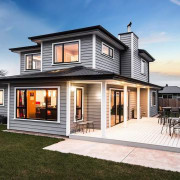 Envira bevel back weatherboards elevation, facade, home, house, property, real estate, residential area, siding, white