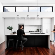 A view of the kitchen with occupants furniture, house, interior design, kitchen, office, product design, white