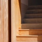 Architect: buck&simplePhotography by Tim Pascoe floor, flooring, hardwood, interior design, laminate flooring, lumber, plywood, stairs, wall, wood, wood flooring, wood stain, orange